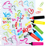 Etiquetas de plástico y marcas de Colorfull ilustración del vector