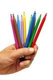 Etiquetas de plástico coloreadas Fotos de archivo libres de regalías