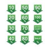 Etiquetas de preço com desconto Fotografia de Stock
