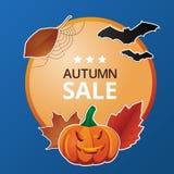 Etiquetas de precio del otoño stock de ilustración