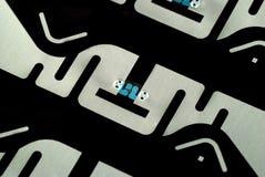 Etiquetas de RFID Imagen de archivo libre de regalías