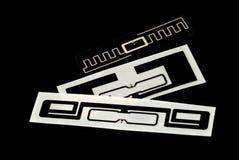 Etiquetas de RFID Imágenes de archivo libres de regalías