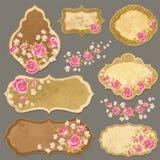 Etiquetas de Rose Imagen de archivo libre de regalías