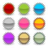 Etiquetas de Starburst Imagen de archivo libre de regalías