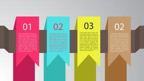 Etiquetas de suspensão de Infographic Fotos de Stock
