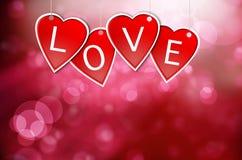 Etiquetas de suspensão do Valentim Fotografia de Stock