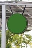Etiquetas de un verde de la cafetería. Foto de archivo libre de regalías