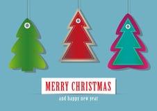 Etiquetas del árbol de navidad Fotografía de archivo libre de regalías
