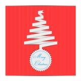 Etiquetas del árbol de navidad Imagenes de archivo
