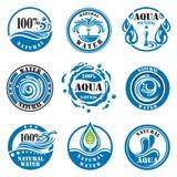 Etiquetas del agua Imagen de archivo