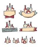 Etiquetas del alcohol Foto de archivo