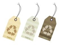Etiquetas del algodón del ciento por ciento Fotografía de archivo libre de regalías