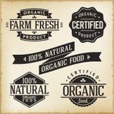 Etiquetas del alimento biológico Stock de ilustración