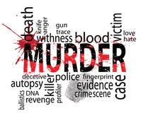 Etiquetas del asesinato ilustración del vector