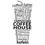 Etiquetas del café Imágenes de archivo libres de regalías