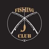Etiquetas del club de la pesca Foto de archivo