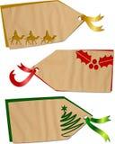Etiquetas del día de fiesta de la Navidad Imágenes de archivo libres de regalías