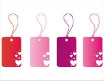 Etiquetas del día de tarjeta del día de San Valentín del St. Imagen de archivo libre de regalías