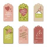 Etiquetas del día del ` s de la madre Imágenes de archivo libres de regalías