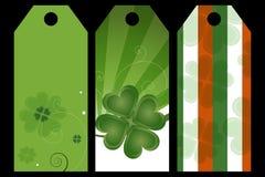 Etiquetas del día del St. Patrick Imagen de archivo