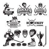 Etiquetas del deporte para el equipo de hockey Divisas del vector fijadas libre illustration