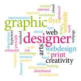 Etiquetas del diseñador gráfico Foto de archivo