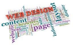 etiquetas del diseño de Web 3d Fotografía de archivo libre de regalías