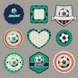 Etiquetas del fútbol Fotografía de archivo
