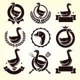 Etiquetas del ganso y sistema de elementos Vector Foto de archivo libre de regalías