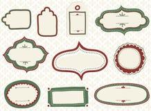 Etiquetas del garabato del día de fiesta Imagen de archivo