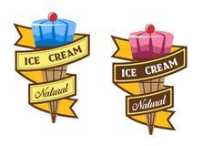 Etiquetas del helado Imágenes de archivo libres de regalías
