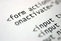 Etiquetas del HTML Imagen de archivo