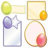 Etiquetas del huevo de Pascua Fotografía de archivo