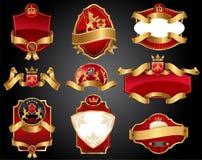 Etiquetas del lujo de Vctor Imagen de archivo libre de regalías