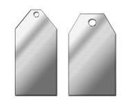 Etiquetas del metal Imágenes de archivo libres de regalías