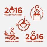 Etiquetas del mono Imágenes de archivo libres de regalías