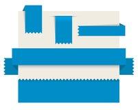Etiquetas del papel azul - cintas del vector stock de ilustración