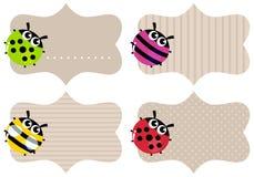 Etiquetas del papel en blanco Imagen de archivo