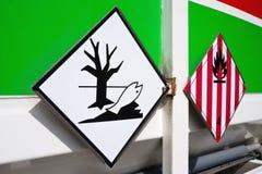 Etiquetas del peligro Foto de archivo libre de regalías