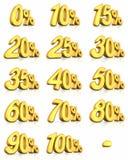 Etiquetas del por ciento del oro Imágenes de archivo libres de regalías