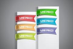 Etiquetas del precio bajo fotos de archivo