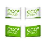 Etiquetas del producto de Eco y de Eco Fotos de archivo libres de regalías