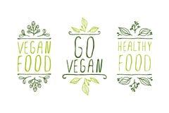 Etiquetas del producto del vegano Fotos de archivo