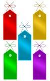 Etiquetas del regalo Imágenes de archivo libres de regalías