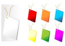 Etiquetas del regalo stock de ilustración