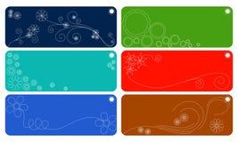 Etiquetas del regalo ilustración del vector