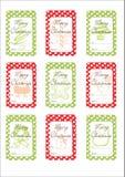 Etiquetas del regalo de Chritmas Fotografía de archivo libre de regalías