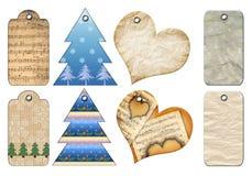 Etiquetas del regalo de diversas formas. Fotos de archivo libres de regalías