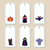 Etiquetas del regalo de Halloween Foto de archivo libre de regalías