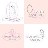 Etiquetas del salón de belleza Fotos de archivo